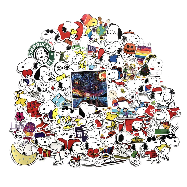 Stickers Calcos 62 un. Snoopy Origen U.S.A. (7QKW57DR)