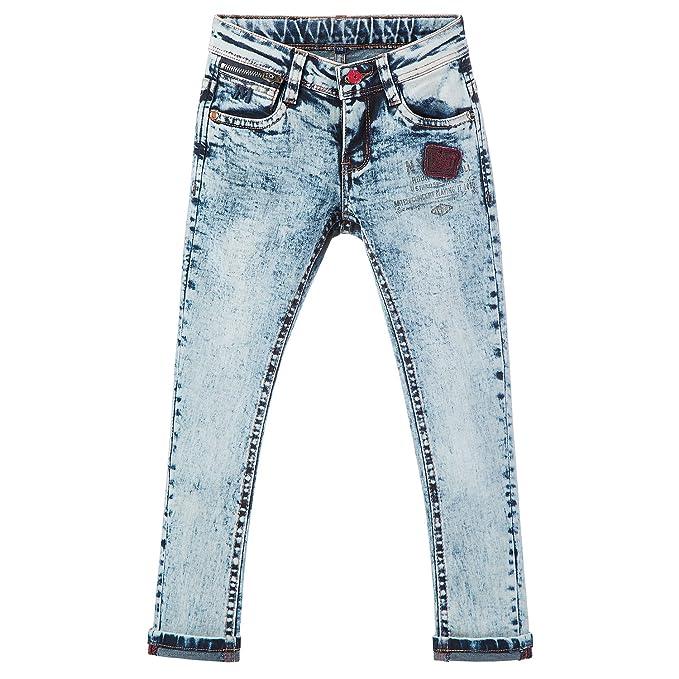 efa93093820 AIQIBAO Boys Jeans Kids Trousers Denim Jeans Children Streched Skinny  Elastic Waist Age 13-14 Years Size 164cm Light Blue  Amazon.co.uk  Clothing