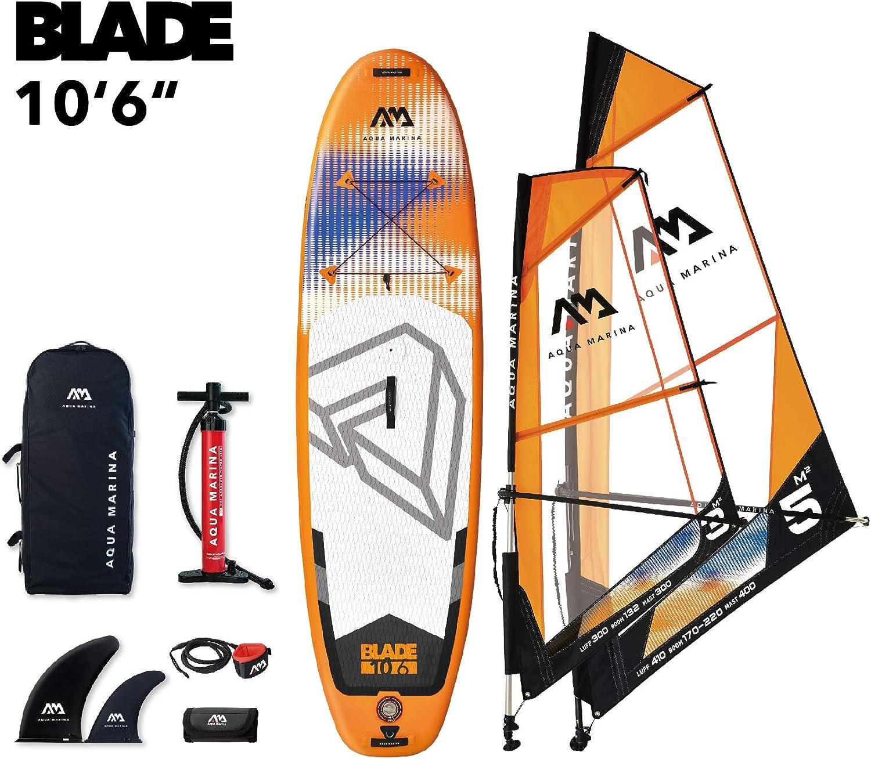 Windsurf Inflatable Stand Up Paddle Board /& 3m Sail iSUP Aqua Marina Blade
