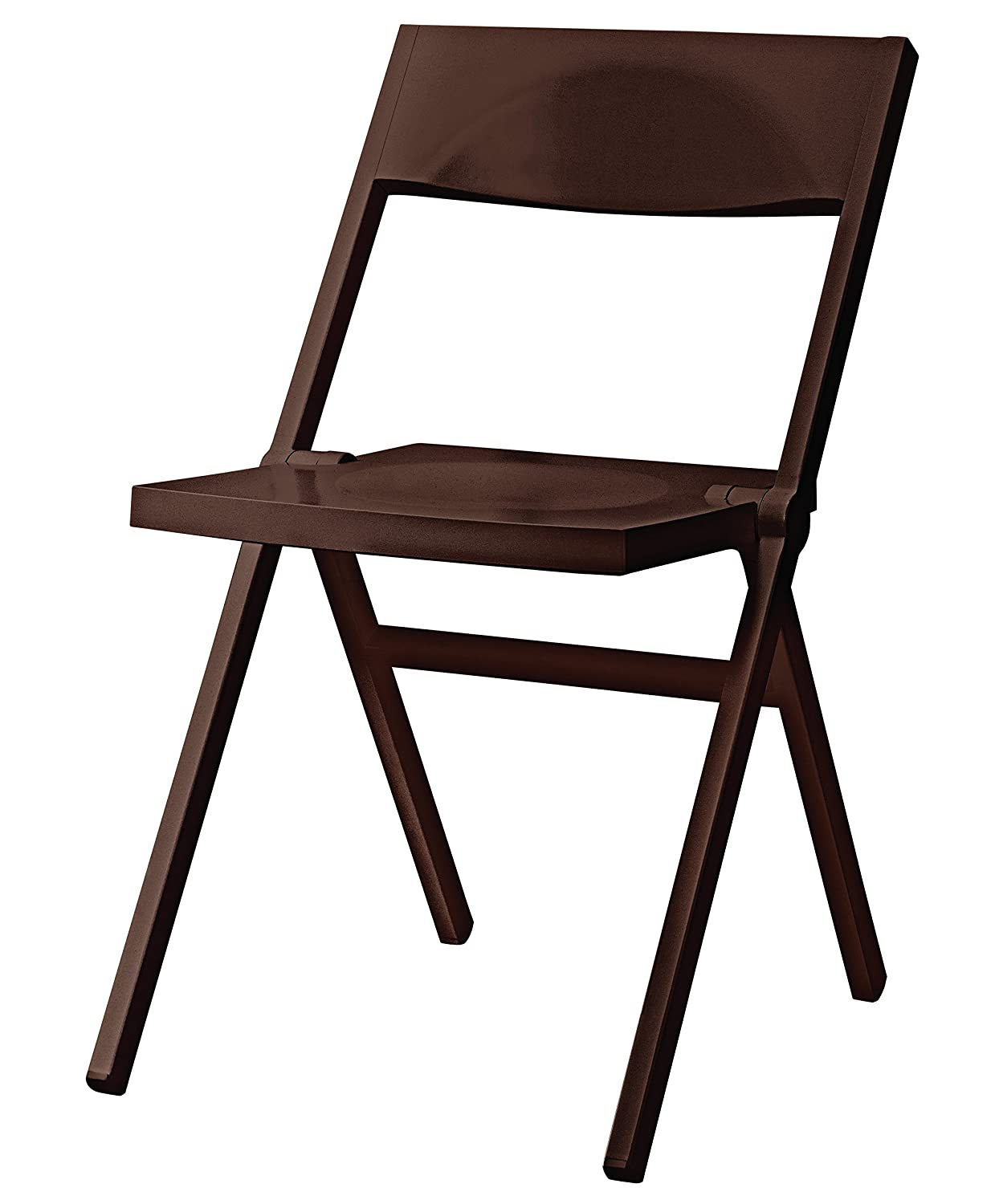 Alessi Folding and Stackable Chair in PP and Fiberglass, Black, 52 x 46 x 90 cm ASPN9017