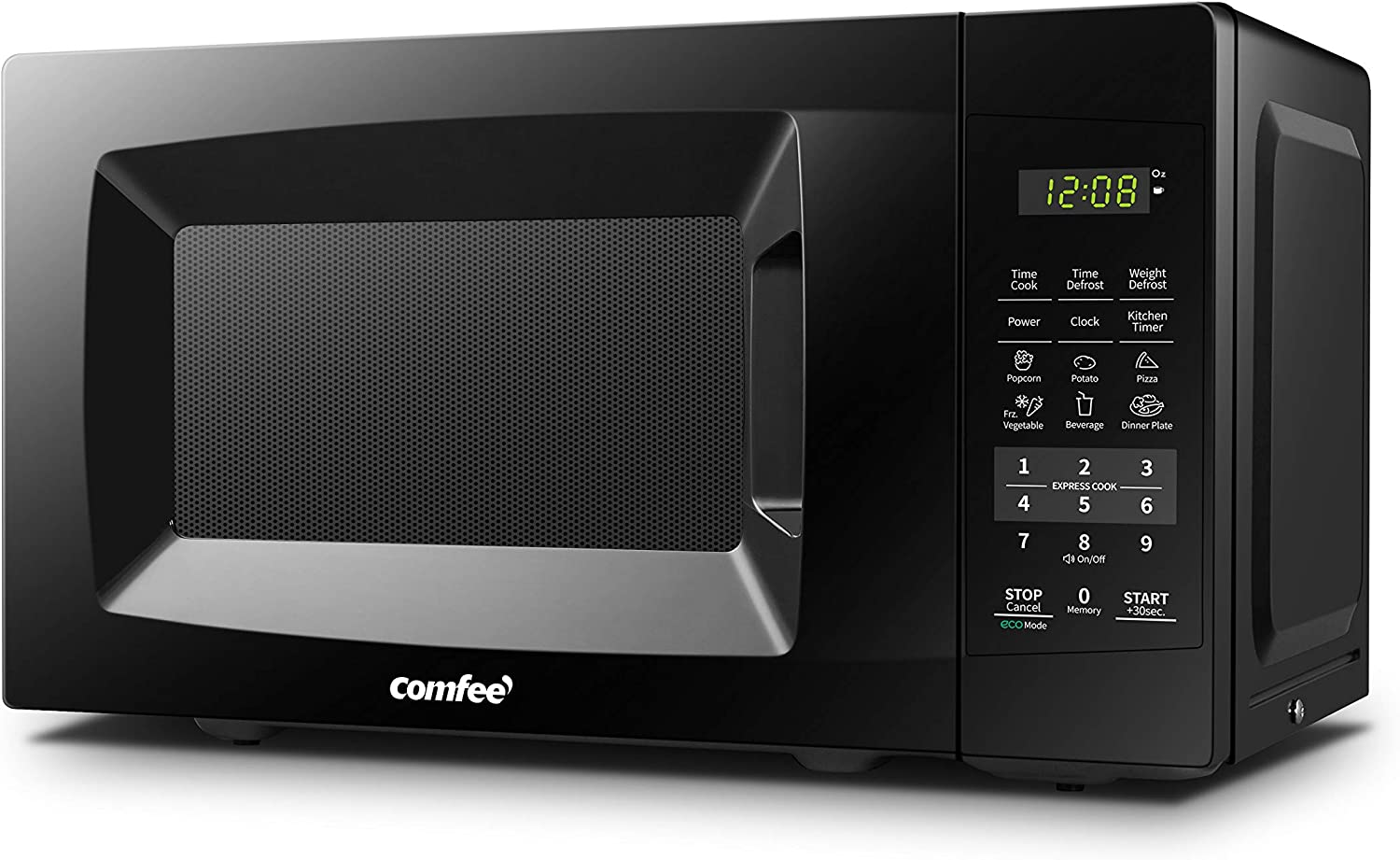 COMFEE EM720CPL-PMB Countertop Microwave Oven with Sound On/Off, ECO Mode and Easy One-Touch Buttons, 0.7cu.ft, 700W, Black