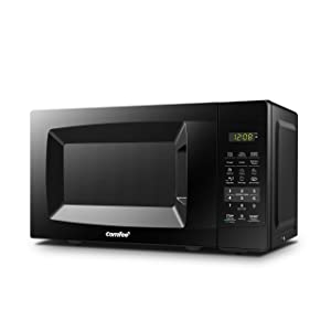 Comfee EM720CPL-PMB Countertop Microwave Oven with Sound On/Off, ECO Mode and Easy One-Touch Buttons 0.7cu.ft, 700W Black