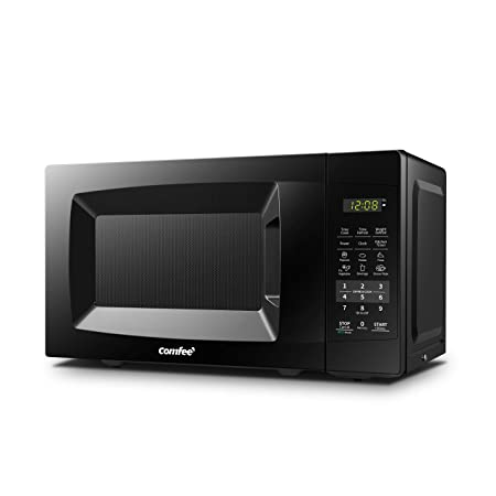 COMFEE EM720CPL-PMB Countertop Microwave Oven with Sound On Off, ECO Mode and Easy One-Touch Buttons, 0.7cu.ft, 700W, Black