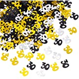 Shappy Number 30 Glitter Confetti for 30th Birthday Anniversary Party Supplies Table Decoration, 50 g (1.76 Ounce)