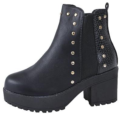 b8938198920b Lora Dora Girls Chunky Block Heel Chelsea Ankle Boots  Amazon.co.uk ...