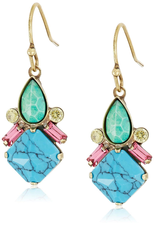 Sorrelli Botanical Brights Petite Mixed Media Drop Earrings