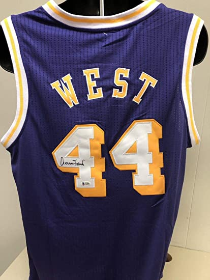 c256e8336a9 Signed Jerry West Jersey - Bas Beckett 4 - Beckett Authentication -  Autographed NBA Jerseys