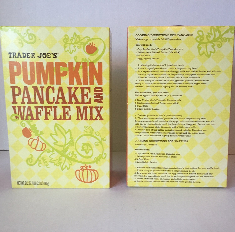 Amazon.com : Trader Joes Pumpkin Pancake and Waffle Mix and ...