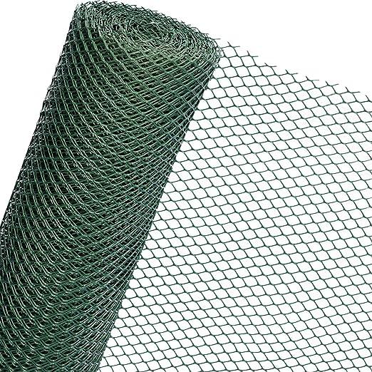 Cañizo de plástico de 1, 3 m2 en 1, 3 m de ancho, valla de jardín de malla de plástico de 30 mm de color verde oscuro (mercancía) RK3/130HD: Amazon.es: Jardín