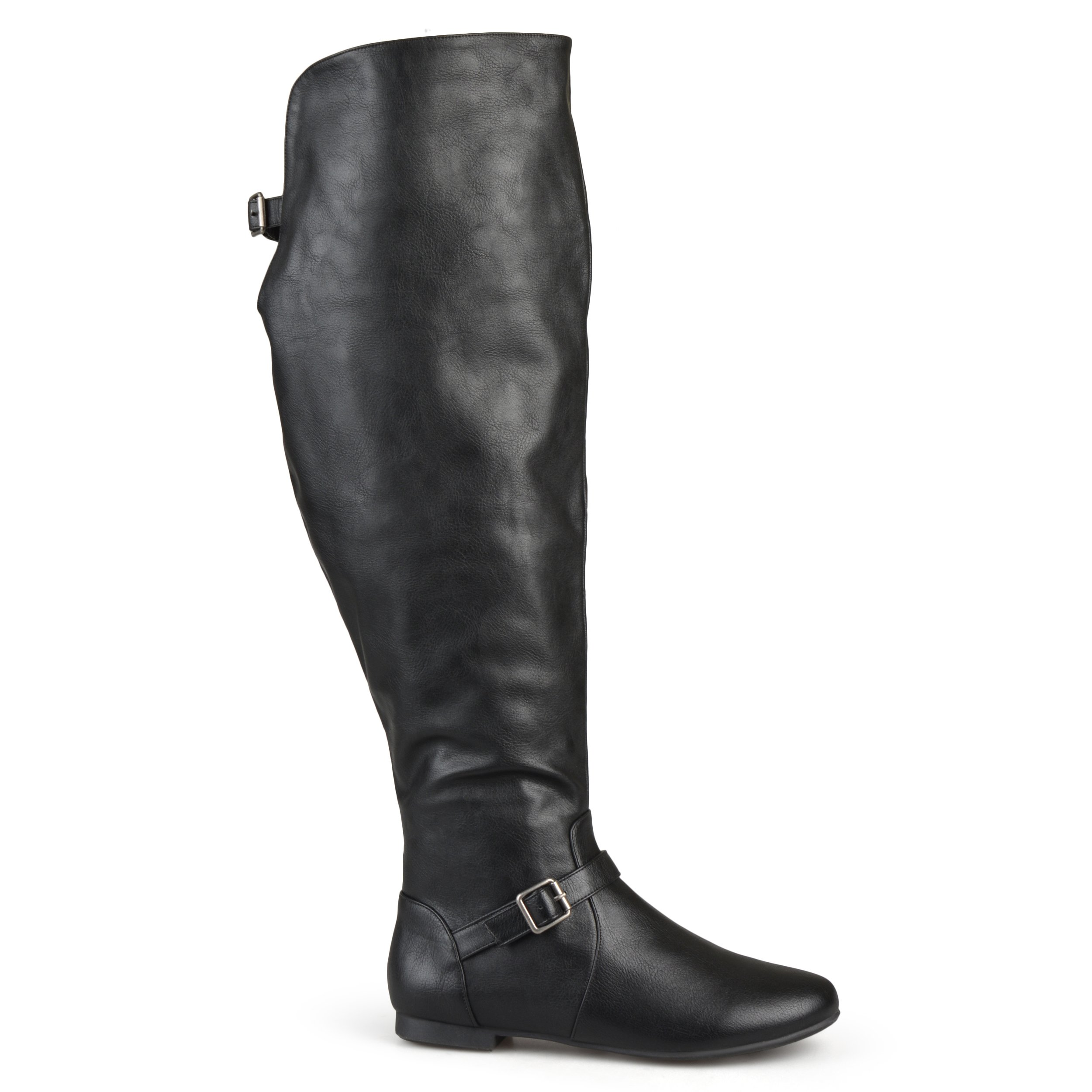 Brinley Co Women's Barn Over The Knee Boot, Black, 10 Wide/Wide Shaft US