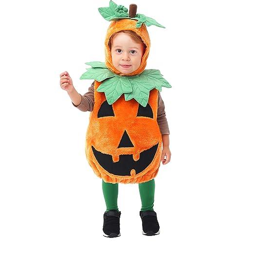 29d5d4ebd Amazon.com: Pumpkin Deluxe Costume Set - 12-24 mo. (12-24 mo.) Green Orange:  Clothing