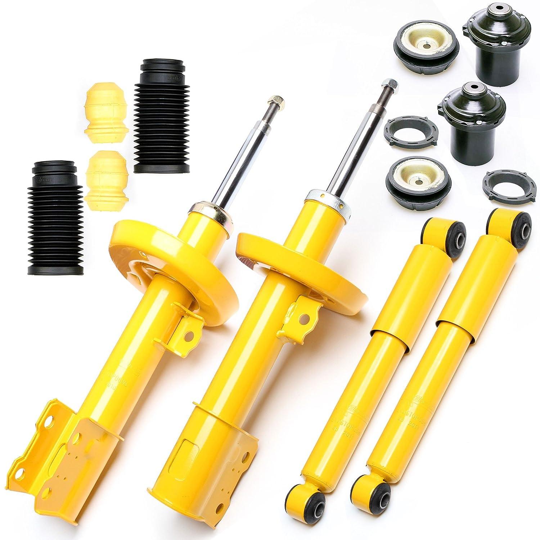 4 X Sport di ammortizzatori a gas Stampa Sport Ammortizzatore Anteriore Posteriore + cuscinetto Dom va + protezione antipolvere –  ASTRA G TA TECHNIX