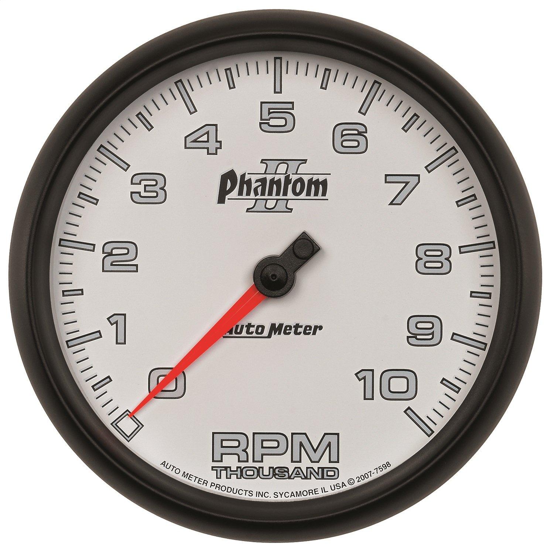Dash Tachometer Gauge Auto Meter 7598 Phantom II 5 10000 RPM In