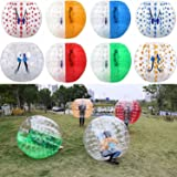 Tomasar Inflatable Bubble Soccer Ball Suit Human Bumper Football Zorb Knocker Balls for Adults and Kids Dia 5ft/4ft (1.5m/1.2m)