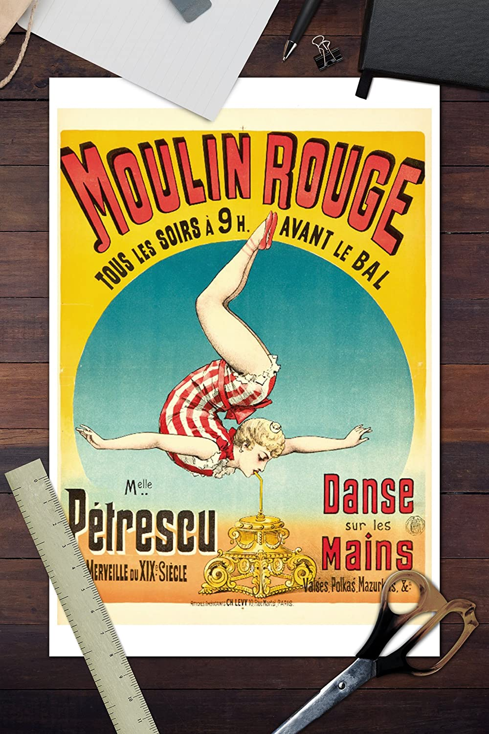 Amazon.com: Moulin Rouge - Melle Petrescu Vintage Poster ...