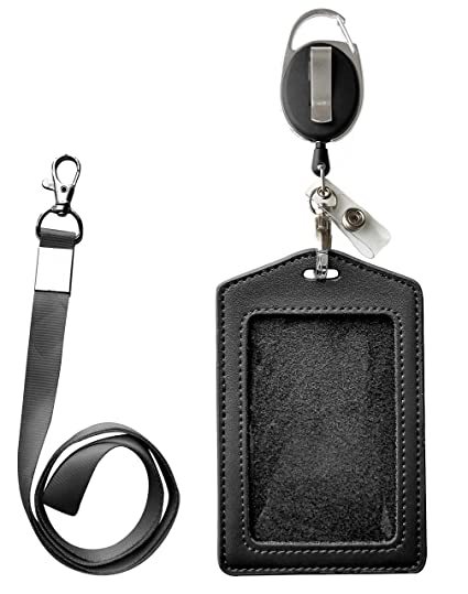 1012fc45a6bb Image Unavailable. Image not available for. Color: ID Card Case + Heavy  Duty Lanyard ...