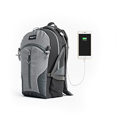 Spydergrip Anywhere Pack 1.0 - Laptop Backpack- Water Resistant Travel laptop backpack with USB Charging Port School Backpack, hiking bag and Travel Backpack designed for 17-Inch and Notebook, (Grey) durable service