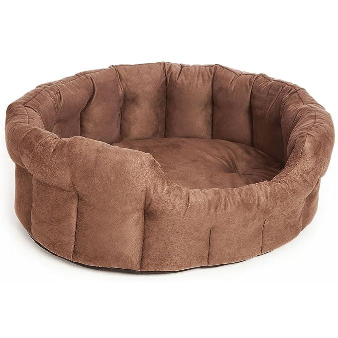 P&L Superior Premium cama ovalada de ante sintético para perros (Talla 2/Marrón)