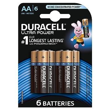 Duracell Ultra Power Pilas Alcalinas AA, Paquete de 6