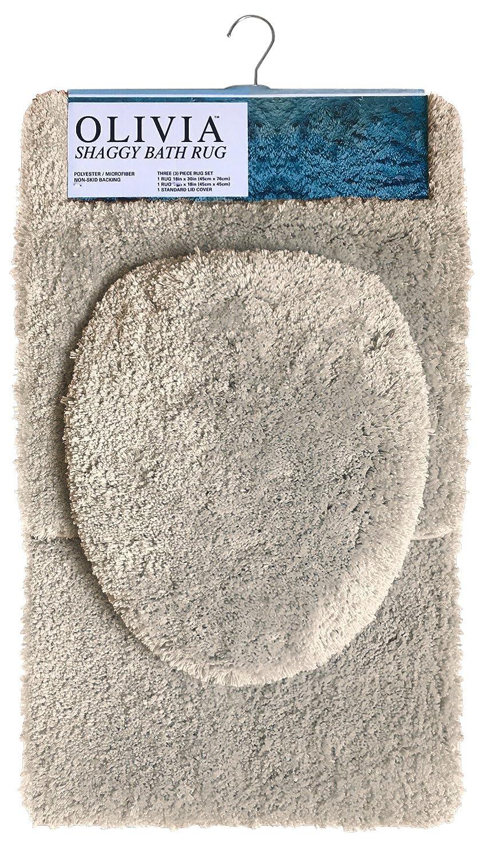 Grey 18 x 18 868692 Popular Bath Throw Pillow Shaggy Collection 18 x 18