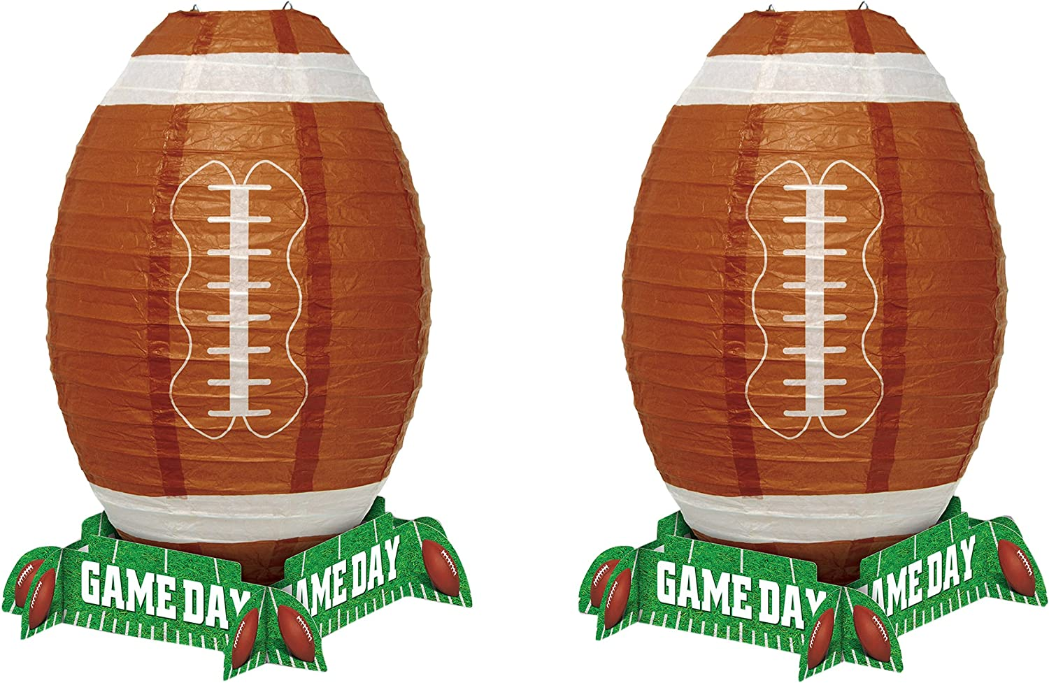 Beistle , 2 Piece Game Day Football Lantern Centerpiece, 11