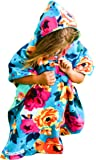 Mermaid Floral Car Seat Poncho Toddler Girls Blanket Traveling Cover Reversible Warm Safe Use Over Seat Belts