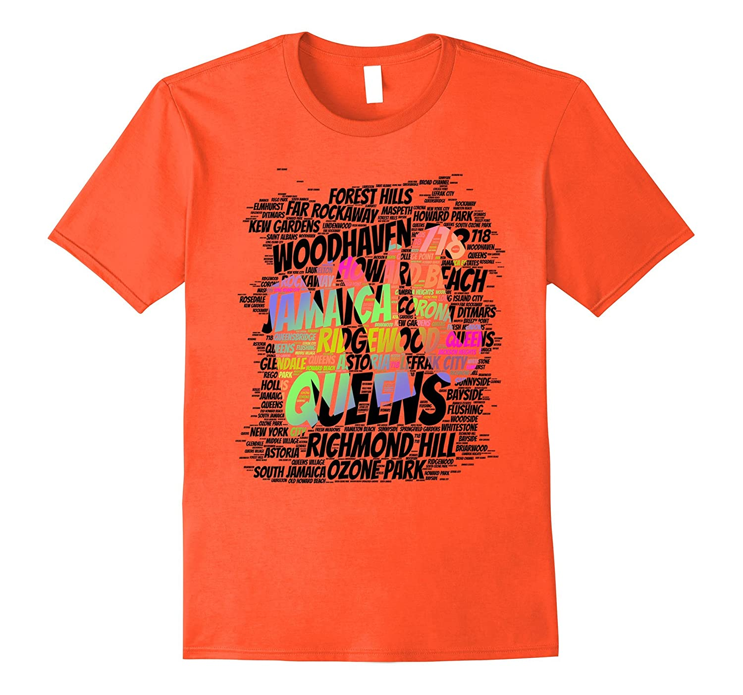 Put Queens on map new york city nyc word T-shirt-PL – Polozatee 2cc984bc2bc