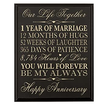Amazon.com - LifeSong Milestones 1st Wedding Anniversary Wall Plaque ...