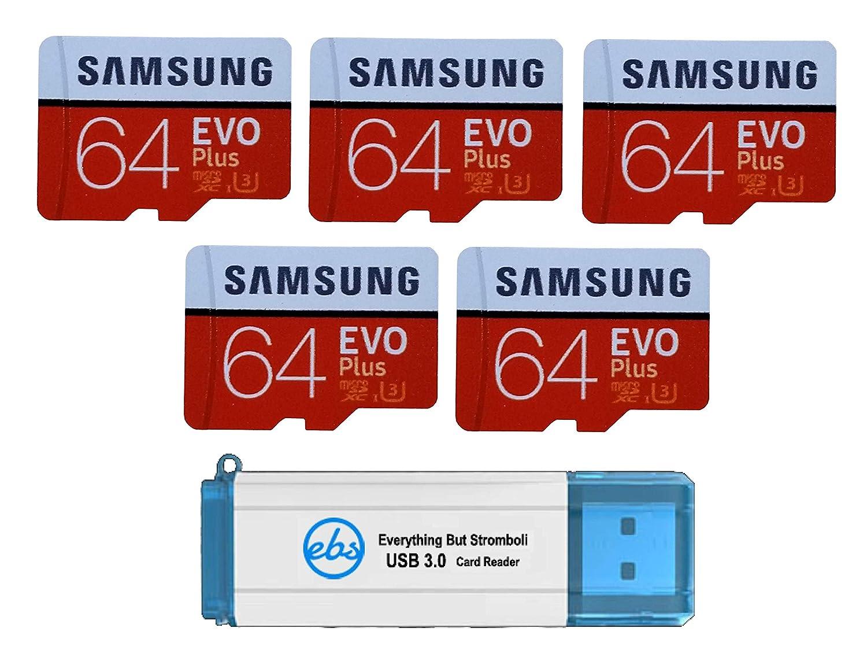 Samsung 64GB EVO Plus Tarjeta MicroSD (Paquete de 5) Clase ...