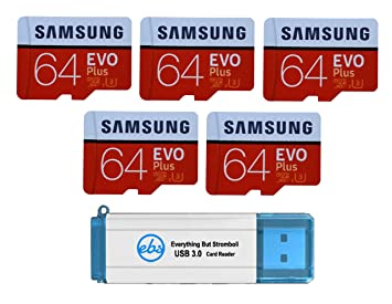 Samsung 64GB EVO Plus Tarjeta MicroSD (Paquete de 5) Clase 10 SDXC ...