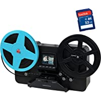 """Magnasonic All-in-One Super 8/8mm Film Scanner, Converts Film into Digital Video, Scans 3"""", 5"""" and 7"""" Super 8/8mm Film…"""