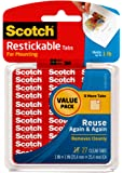 Scotch Restickable Tabs 1 x 1 Inches (R100VPC)