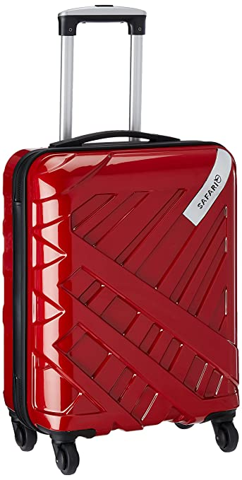 Safari Strobe Polycarbonate 54 cms New Red Hard Sided Cabin ...