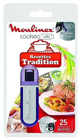 Moulinex Clé USB de 25 Recettes Tradition XA600211 Accessoire Cookeo  Officiel Compatible avec Multicuiseurs Cookeo YY2943FB
