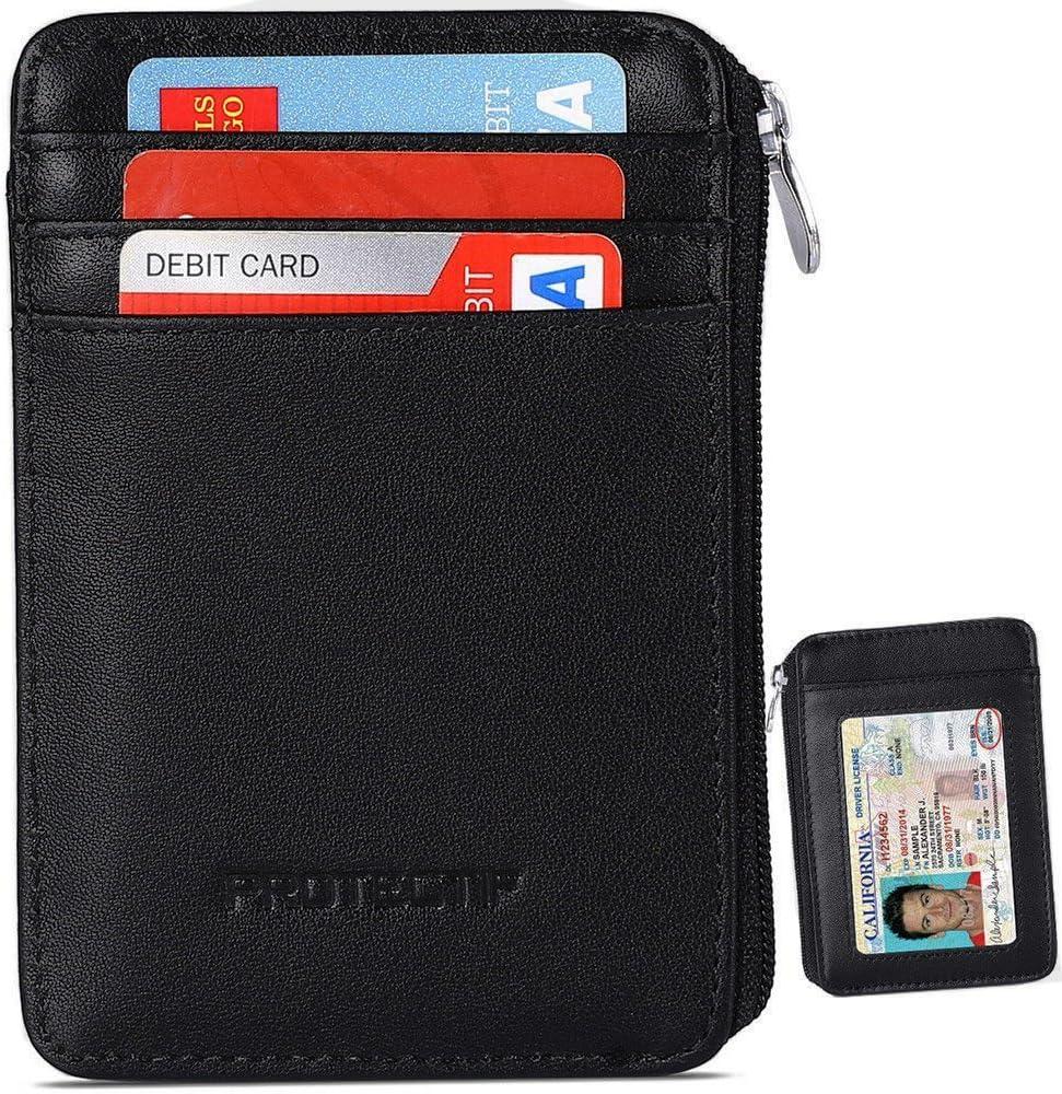 Coiol RFID Blocking Wallet Front Pocket Wallet Minimalist Secure Credit Card Holder