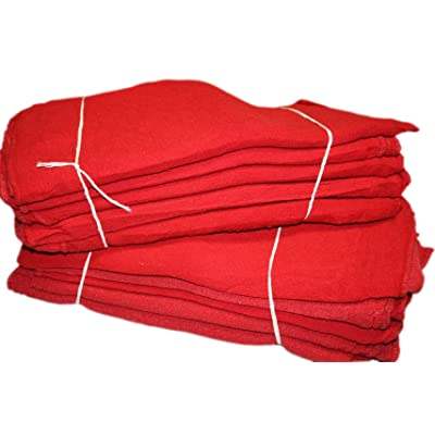 Pro's Choice Red Auto Mechanic Rags (Pack of 50), Shop Towels (13 x 13 Inches) - 100% Cotton, Commercial Grade Wipers - Home, Garage, Auto Body Shop, Wiping Cleaning Oil Spills, Machinery, Tools: Automotive