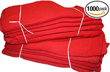4 RED pink SHOP TOWELS 100/% Cotton cloth Rags auto car mechanics cleaning oil