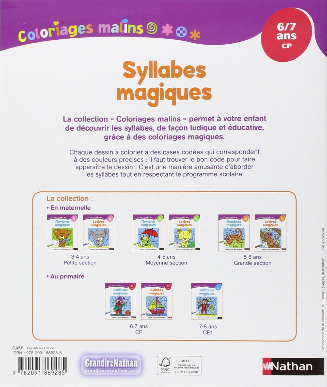 Coloriage Cp Syllabes.Coloriages Malins Syllabes Magiques Cp Amazon Fr