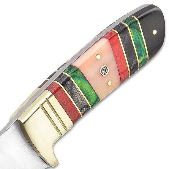 Amazon.com: Timber Wolf - Cuchillo de esmeralda con hoja de ...