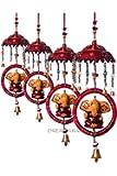 DreamKraft Paper Mache Lord Ganesha Door Hangings(Multicolour, 56cm)