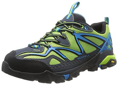 Merrell Men's Capra Sport Hiking Shoe, Black/Lime Green, ...