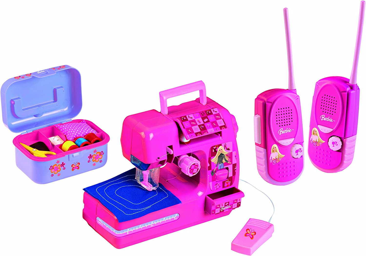 Barbie - Máquina de Coser y 1 par de walkie-talkies, Color Rosa ...