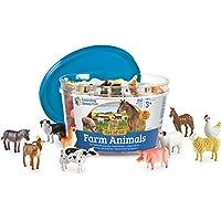 Learning Resources Contadores de Animales de Granja, 10 Animales Diferentes, Juego de 60, Edades 3 +