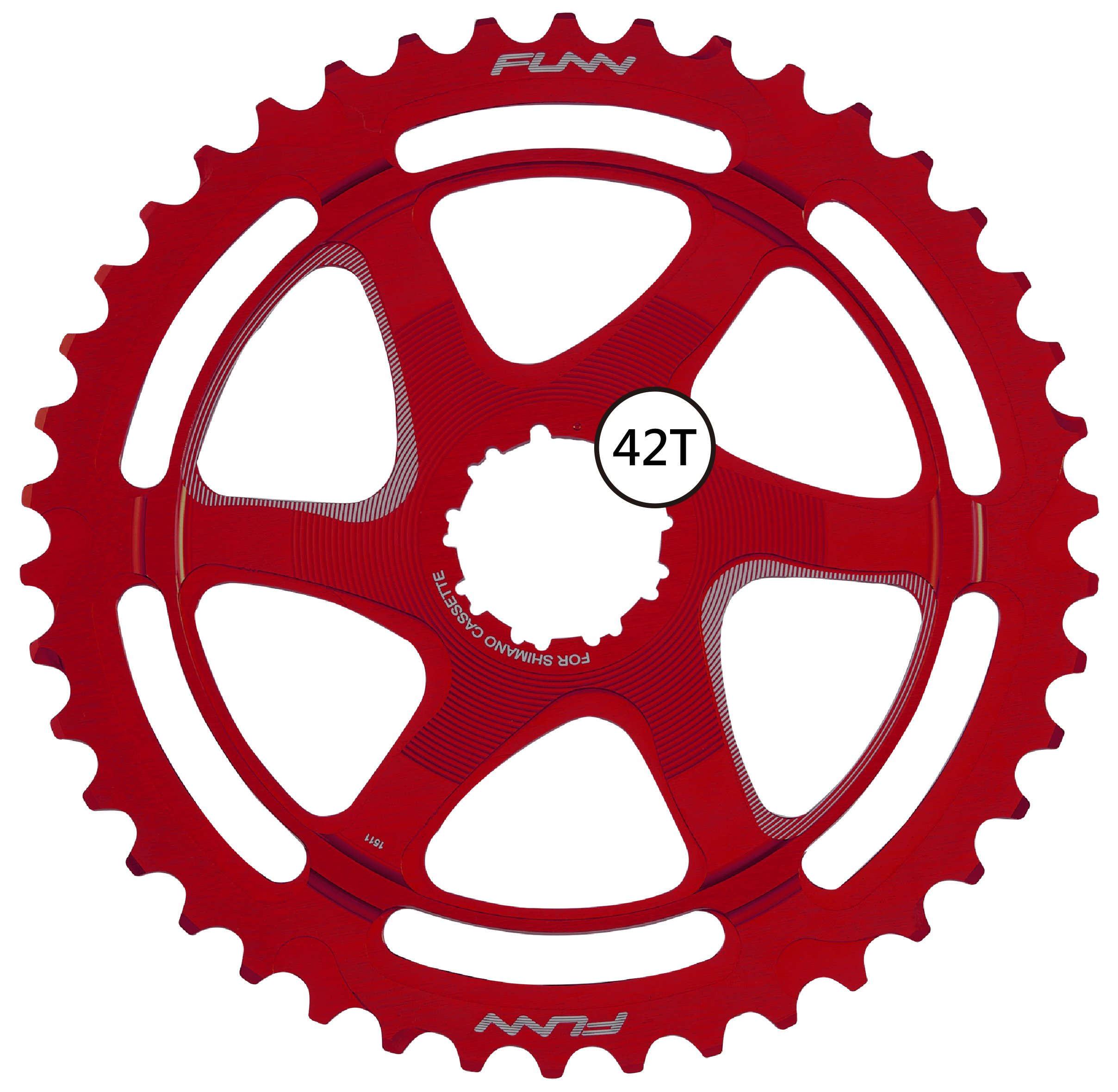 Funn Clinch Extension COG 42T (for Shimano 10 SPD) (red)