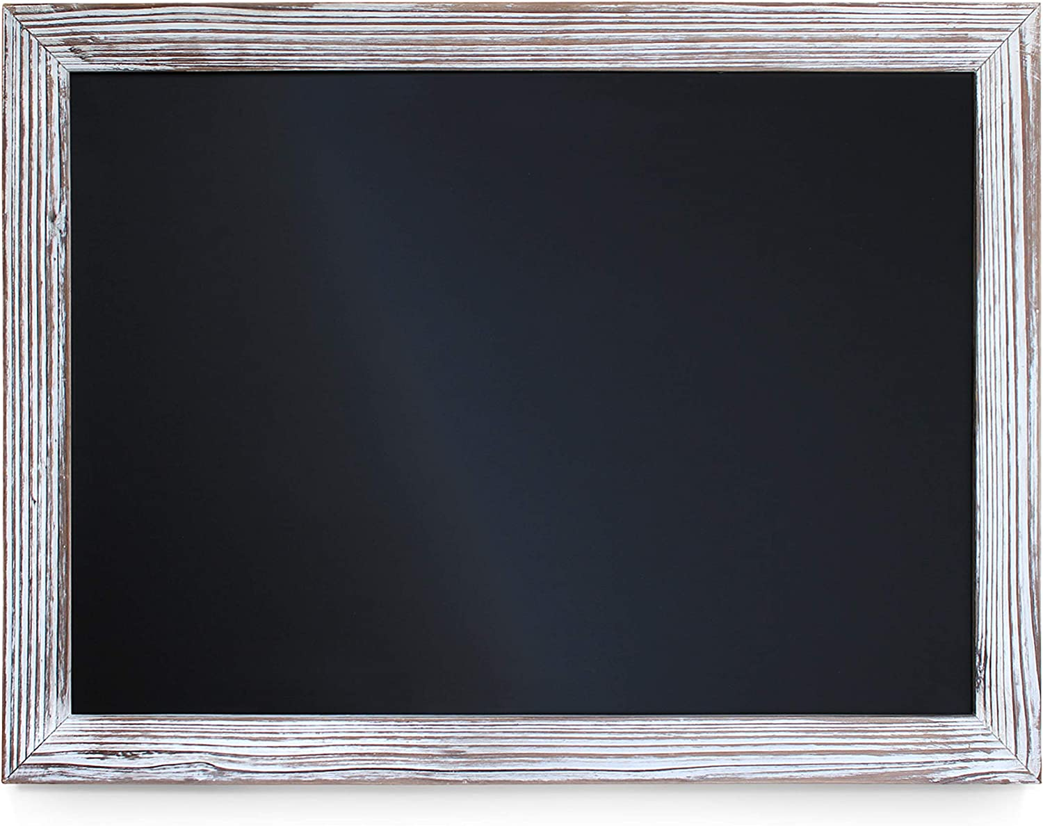 """Rustic Whitewashed Magnetic Wall Chalkboard, Large Size 18"""" x 24"""", Framed Chalkboard - Decorative Magnet Board Great for Kitchen Decor, Weddings, Restaurant Menus and More! … (18"""" x 24"""")…: Office Products"""