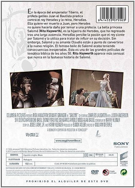 Amazon.com: Salome (1953) (Salome: The Dance of the Seven Veils)  [ NON-USA FORMAT, PAL, Reg.2 Import - Spain ]: Stewart Granger, Alan Badel, Basil Sydney, ...