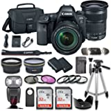 Canon EOS 6D MARK II DSLR Camera Bundle with Canon EF 24-105mm f/3.5-5.6 IS STM Lens + 2pc SanDisk 32GB Memory Cards + Premium Accessory Bundle Kit (19 Items)