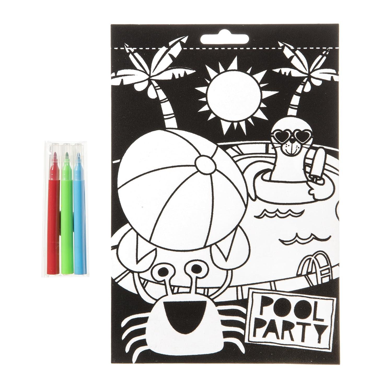 Darice 30041754 Color-in Velvet Poster Multicolor