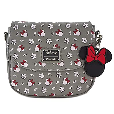 92ef59a7ab7 Loungefly Minnie Mouse Gray Print Crossbody Purse (One Size