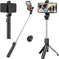 Selfie Stick Tripod,Mini Extendable Tripod Stand Phone Selfie Stick with Bluetooth Remote Shutter for iPhone x/xs/xr/7 8 11/Samsung Galaxy s8 9/Huawei/Google/Xiaomi/More